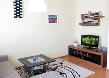 Wohnzimmer Ferienwohnung Strandgut
